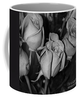 Black And White Roses Coffee Mug