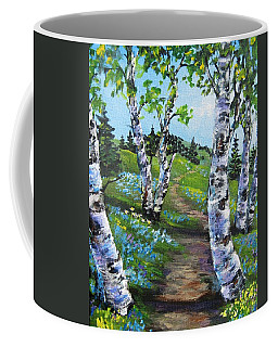 I Think I Will Walk Coffee Mug by Megan Walsh