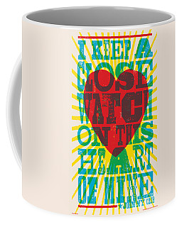 I Walk The Line - Johnny Cash Lyric Poster Coffee Mug
