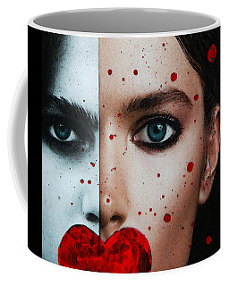 Coffee Mug featuring the painting Nevertheless She Persisted - Mixed Media Study By Sharon Cummings by Sharon Cummings