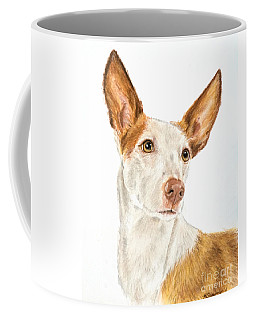 Ibizan Hound In Pastel Coffee Mug