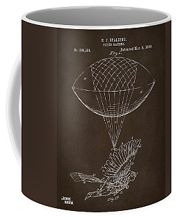 Coffee Mug featuring the drawing Icarus Airborn Patent Artwork Espresso by Nikki Marie Smith