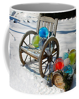 Coffee Mug featuring the photograph Ice Ball Art by Nina Silver