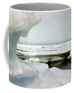 Coffee Mug featuring the photograph Ice Barrow Alaska July 1969 By Mr. Pat Hathaway by California Views Mr Pat Hathaway Archives