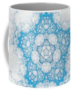 Coffee Mug featuring the digital art Ice Crystals by GJ Blackman