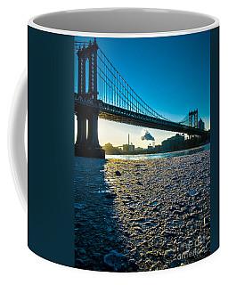 Ice Floe Under The Manhattan Bridge Coffee Mug
