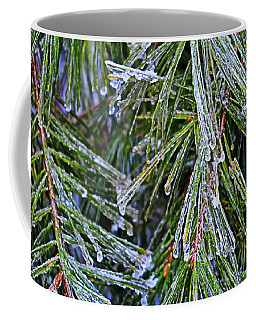 Ice On Pine Needles  Coffee Mug