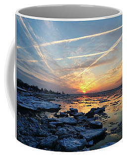 Ice On The Delaware River Coffee Mug