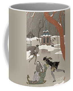 Ice Skating On The Frozen Lake Coffee Mug