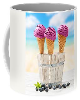 Icecreams With Blueberries Coffee Mug