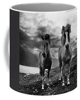 Icelandic Horses Coffee Mug by Frodi Brinks