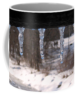 Coffee Mug featuring the photograph Icicles On The Bridge by Nina Silver