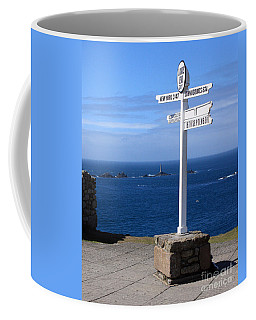 Coffee Mug featuring the photograph Iconic Lands End England by Terri Waters