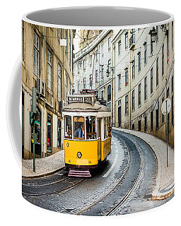 Iconic Lisbon Streetcar No. 28 IIi Coffee Mug by Marco Oliveira