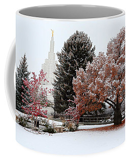 Idaho Falls Temple Winter Coffee Mug