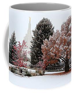Idaho Falls Temple Winter Coffee Mug by David Andersen