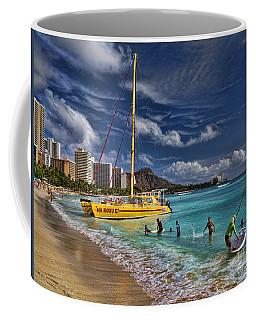 Idyllic Waikiki Beach Coffee Mug
