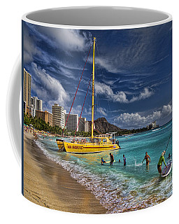 Idyllic Waikiki Beach Coffee Mug by David Smith