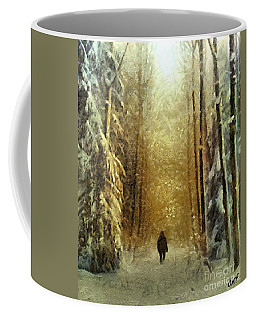 Coffee Mug featuring the painting I'll Be Home For Christmas by Dragica  Micki Fortuna