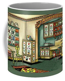Illustration Of A Colorful Swedish Kitchen Coffee Mug