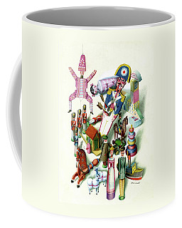Illustration Of A Group Of Children's Toys Coffee Mug