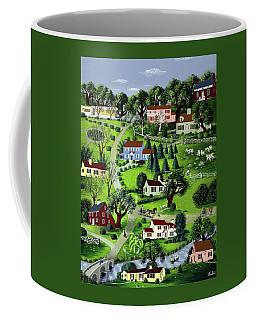 Illustration Of A Village Coffee Mug