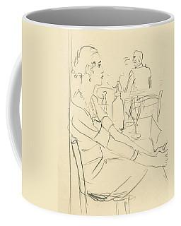 Illustration Of A Woman Sitting Down Coffee Mug