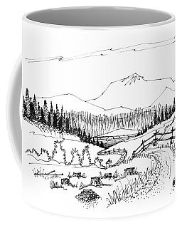 Coffee Mug featuring the drawing Imagination 1993 - Symphony Vision by Richard Wambach