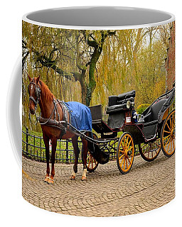 Immaculate Horse And Carriage Bruges Belgium Coffee Mug