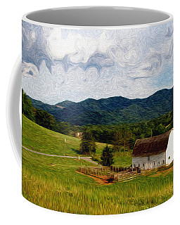 Coffee Mug featuring the painting Impressionist Farming by John Haldane