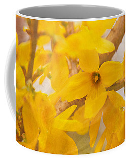 Coffee Mug featuring the photograph Impressionist Forsythia by Jemmy Archer