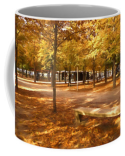 Impressions Of Paris - Tuileries Garden - Come Sit A Spell Coffee Mug by Georgia Mizuleva