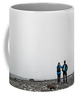 Impressive Waterfall Skogafoss In Iceland With Lots Of Water Coffee Mug