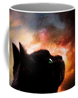 In A Cats Eye All Things Belong To Cats.  Coffee Mug