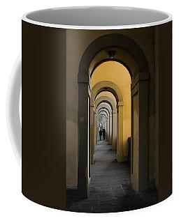 In A Distance - Vasari Corridor In Florence Italy  Coffee Mug