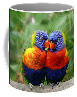 In Love Lorikeets Coffee Mug