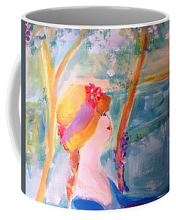 In My Hat By The River  Coffee Mug by Judith Desrosiers