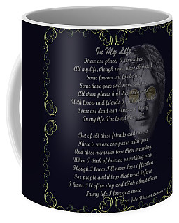 In My Life Golden Scroll Coffee Mug