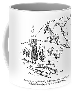 In Reply To Your Inquiry Regarding The Burke Coffee Mug