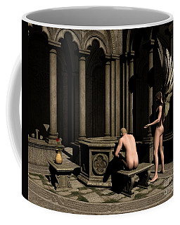 In Silence He Found Himself - Angel Art Coffee Mug