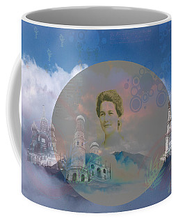 Coffee Mug featuring the digital art In The Air by Cathy Anderson