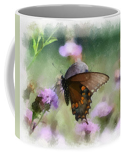Coffee Mug featuring the photograph In The Flowers by Kerri Farley