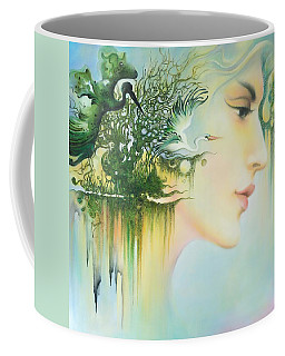 In The Fluter Of Wings-in The Silence Of Thoughts Coffee Mug