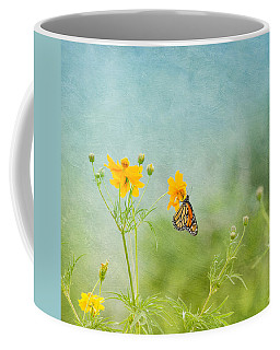 Coffee Mug featuring the photograph In The Garden - Monarch Butterfly by Kim Hojnacki