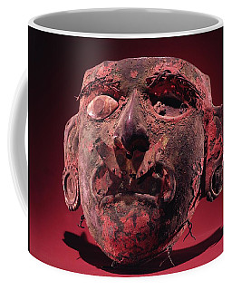 Incan Mask Copper Alloy & Shell Coffee Mug