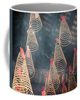 Coffee Mug featuring the photograph Incense Coils by Lucinda Walter