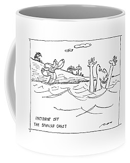 Incident Off The Spanish Coast Coffee Mug