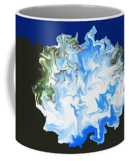 Coffee Mug featuring the digital art Incoming Ice Age by Aliceann Carlton