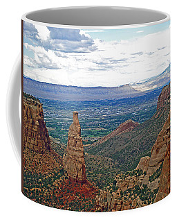 Independence Monument In Colorado National Monument Near Grand Junction-colorado Coffee Mug by Ruth Hager