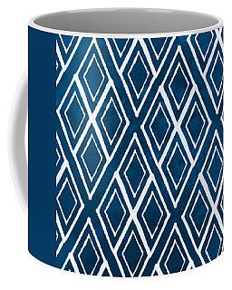 Indgo And White Diamonds Large Coffee Mug